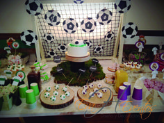 Mesa de dulces - Sweet Table - Candy Bar Futbol