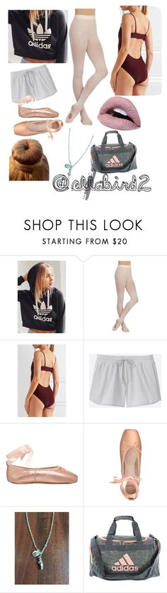 """👣👄Rehearsal time👄👣"" by ellabird2 ❤ liked on Polyvore featuring adidas, Capezio Dance, Ballet Beautiful, Uniqlo and Opera National de Paris"