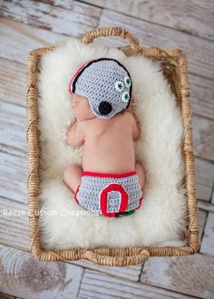 Crochet Ohio St. Colors Newborn Baby Boy Photo Prop Outfit- Hat and Diaper Cover- Can also be made for a Baby Girl! by ReeseCustomCreations on Etsy https://www.etsy.com/listing/203267225/crochet-ohio-st-colors-newborn-baby-boy