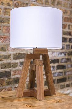 Wooden Table Lamps, Table Lamps For Bedroom, Wood Lamps, Wood Lamp Base, Diy Lamps, Glass Lamps, Ceiling Lamps, Rustic Lamps, Living Room Lighting