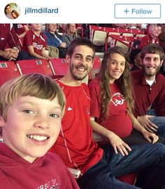 Jill, Derrick, Dan, and Justin at razorback game