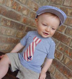 4th of July - Ancors Away Tie Shirt by MandyAnn- Boy. $14.99, via Etsy.