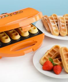 This BABYCAKES Orange Waffle Stick Maker by BABYCAKES is perfect! #zulilyfinds