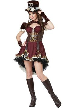 Steampunk Girl Adult Costume #Halloween #costumes #steampunk