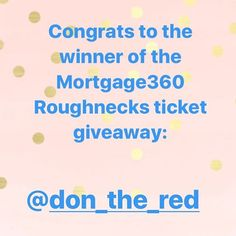 Congrats to the winner of our Mortgage 360 ticket giveaway!! Enjoy the game @don_the_red!! And to everyone else stay tuned for other great give aways and events coming up!! • • • • • #katiewhytemortgageassociate - posted by Katie Whyte Mortgage https://www.instagram.com/katiewhytemortgage - See more Luxury Real Estate photos from Local Realtors at https://LocalRealtors.com/stream