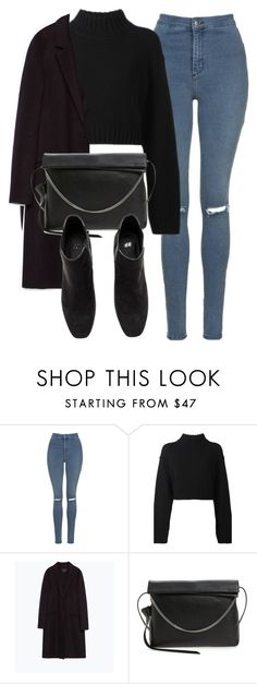 """""""Untitled #6139"""" by laurenmboot ❤ liked on Polyvore featuring Topshop, DKNY, Zara and AllSaints"""