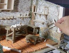 it forum topic. Nativity House, Christmas Nativity Scene, Nativity Sets, Miniature Crafts, Miniature Houses, Home Crafts, Diy Crafts, Putz Houses, Fimo Clay