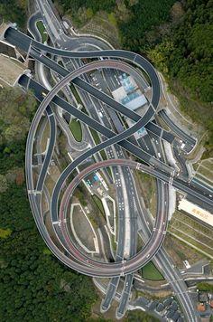 Takao area Hisashimichi interchange of Hachioji, Tokyo