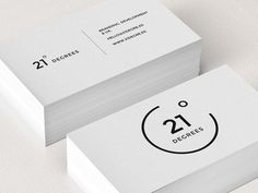 21 Degrees Business Card logo minimal corporate design black white graphic by myra Business Card Maker, Minimalist Business Cards, Cool Business Cards, Creative Business, Business Card Logo, Coperate Design, Design Cars, Design Layouts, Time Design