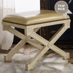Continental Leather Stool