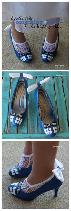 "Doctor Who ""Something Blue"" TARDIS Shoes! #wedding"