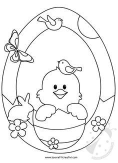 Ghirlanda di Pasqua con pulcino da attaccare sulle finestre o sulle pareti dell'aula scolastica. ADDOBBI DI PASQUA Ghirlanda di Pasqua Materiale: cartoncin