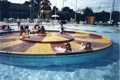 vintage outdoor pool | remember laying in that, we stayed there for ages as the water was ...