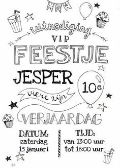 Gevonden via Google...  Voor hippe en trendy partydecoraties kijk ook eens op www.studioz11.nl Hand Lettering Fonts, Doodle Lettering, Brush Lettering, Diy Birthday, Birthday Cards, Birthday Ideas, Zentangle, Foto Baby, Diy Letters