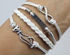 fox braceletPeace bracelet Infinity braceletFriendship by giftdiy, $3.99