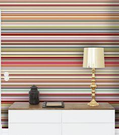 Funky stripy wallpaper