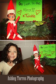 Elf on the shelf idea.