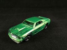 2010 Hot Wheels Treasure Hunt 69 FORD MUSTANG Green Flames LOOSE Muscle Car #HotWheels #Ford
