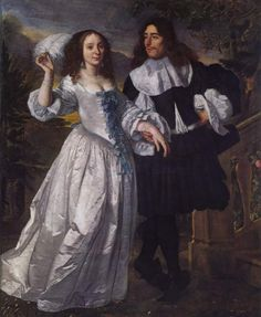Porträt eines Patrizierpaares by Bartholomeus van der Helst, 1661 - ahnliches Kleid http://oldrags.tumblr.com/tagged/17th+century/page/10