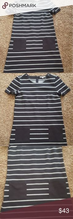 I just added this listing on Poshmark: GAP BLACK STRIPED DRESS. #shopmycloset #poshmark #fashion #shopping #style #forsale #GAP #Dresses & Skirts