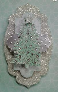 A Time To Stamp: Winter Frost Wall Art - Evergreen tree element - Debbie Speijers