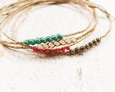 Woven & Braided Bracelets   Etsy Summer Bracelets, Simple Bracelets, Braided Bracelets, Handmade Bracelets, Handmade Jewellery, Driftwood Jewelry, Rope Jewelry, Elephant Jewelry, Elephant Bracelet