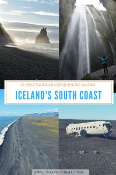 13 Spectacular Experiences Along Iceland's South Coast. Iceland's South Coast is host to majestic waterfalls, snow capped peaks, volcanos and impressive coastal rock formations.  South Iceland's fantastic natural landscape  will ensnare your imagination and hold your undivided attention!