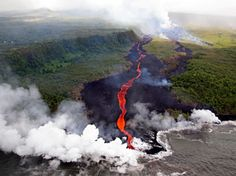 Réunion island, in the Indian Ocean, east of Madagascar. The volcano Fournaise is one of the most active in the world