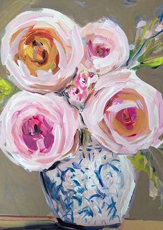 Impressionist Art Acrylic Painting Original Canvas Art Impressionism Peonies…