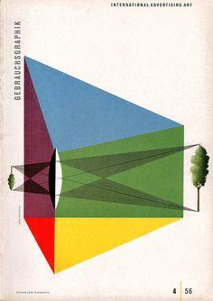 Gebrauchsgraphik cover, No. 4, 1956 by Erik Nitsche. Sourced by Sandi Vincent.