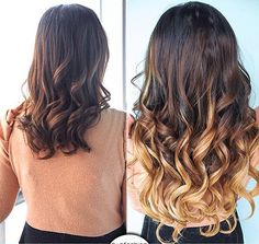 2014 Boho Wedding Hair Styles Ideas brown ombre color curly hair styles & extensions