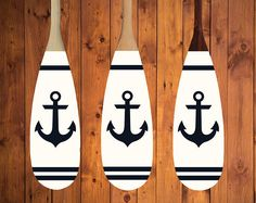 Nautical anchor paddle. Great addition to any coastal room or cottage. Would look great hanging on a wall in an entrance way!