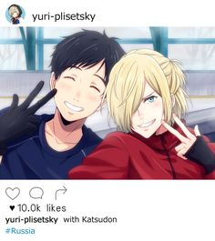 Yuri Katsuki & Yuri Plisetsky | Yuri!!! On Ice