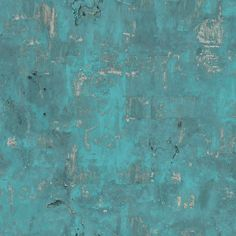 Non-woven wallpaper concrete look petrol turquoise weathered patina 3501 industrial stone wall . Non-woven wallpaper concrete look petrol turquoise weathered patina 3501 industrial stone wall in h Galerie Wallpaper, Wall Wallpaper, Wallpaper Ideas, Stripping Paint, Paint Effects, Cecile, Loft Style, Modern Wall, Concrete