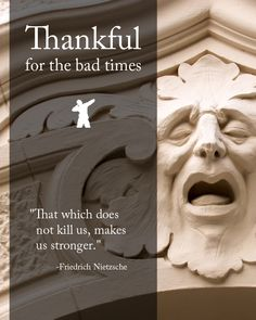 I'm thankful for the bad times Friedrich Nietzsche, Bad Timing, Food For Thought, Thankful, Happiness, Times, Thoughts, Happy, Quotes