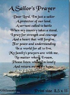 A sailor's prayer Navy military life Navy Sister, Navy Girlfriend, Navy Mom, Sailor's Prayer, Prayer Poems, Navy Military, Military Wife, Military Apparel, Military Party