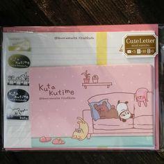 MV39324-Mind Wave Stationery Japan Kuta Kutime Napping Animals Small Letter Set with Sticker Strip