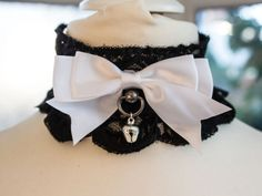 Gothic Lolita Cat Collar/Choker w/ Bow by TheeEtherealEmporium