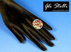 """Anello artigianale regolabile con resina da inclusione e perline colorate """"Multicolor"""". Vai al link per tutte le info: http://glistolti.shopmania.biz/compra/anello-multicolor-409 Gli Stolti Original Design. Handmade in Italy. #glistolti #moda #artigianato #madeinitaly #design #stile #roma #rome #shopping #fashion #handmade #style #bijoux"""