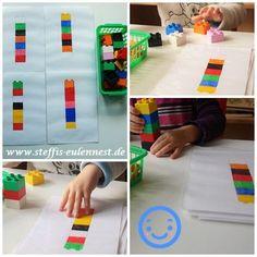 Lego, Spiele für Kinder, Kita, Krippe , Kindergarten, Bausteine aufzeichnen, Farbspiel, Konzentration, U3 Krippe, Lernspiel,