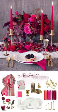 Saturated Sophistication: Holiday Table Inspiration & Style Guide