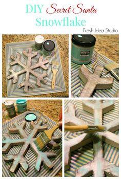 Secret Santa Tour- DIY Snowflake {How to customize a store-bought ornament} Fresh Idea Studio