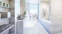 "Contemporary Master Bathroom with European Cabinets, Underscore 72"" x 36"" Soaking Bathtub by Kohler, Flush, Master bathroom"