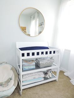 Inspirational Black Crib with attached Changing Table