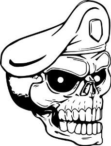 cool milatary skull drawings - Google Search