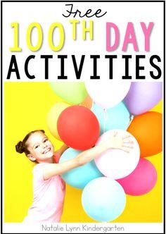 100th Day Activities - Natalie Lynn Kindergarten Early Finishers Activities, Kindergarten Activities, Classroom Activities, First Grade, Second Grade, Counting By 10, Sentence Strips, Parent Teacher Conferences, Cvc Words