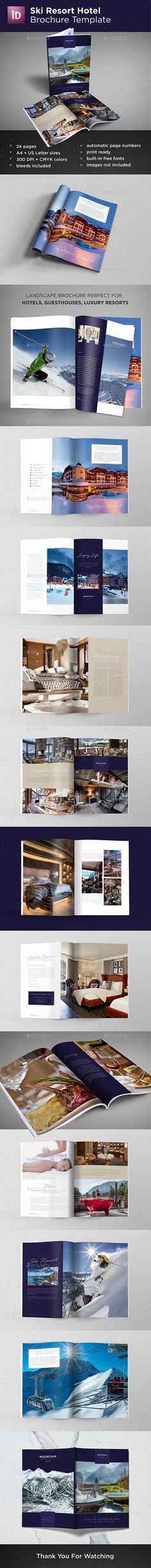 8 Page Brochure Brochures, Brochure template and Template - hotel brochure template