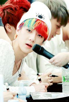 i want rainbow hair now. now i want skittles. i just want Sehun.
