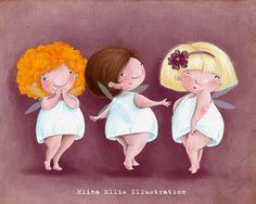 So cute! by Elina Ellis - Illustration Goddess!