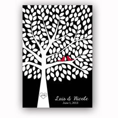Wedding Guest Book Tree Wedding Guestbook for 200 by GandGPrints